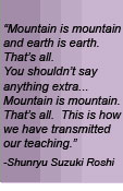 Mountain is Mountain and earth is earth That's all.  You shouldn't say anything extra""